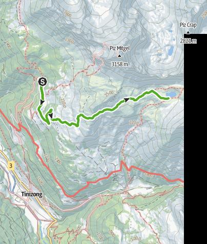 Map / Plang la Curvanera - Lai Tigiel - Plang la Curvanera