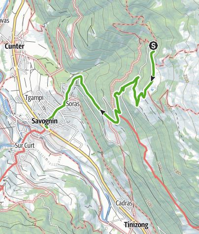 Map / Plang la Curvanera - Savognin