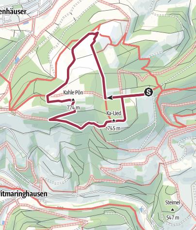 Karte / Naturweg Kahle Pön Düdinghausen