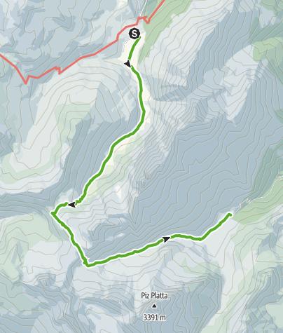 Karte / Radons - Tga / Val Faller