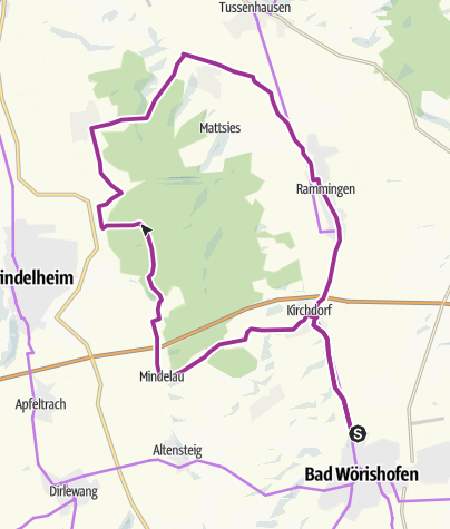 Karte / Radtour von Bad Wörishofen nach Nassenbeuren