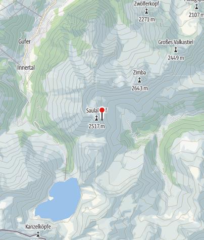Karte / Einstieg Klettersteig Saulakopf
