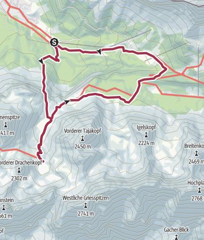 Karte / Immensteig-Seebensee-Coburter Hütte-Hoher Gang