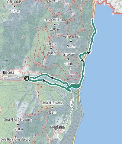 Map / Timeless panorama: the Ponale road