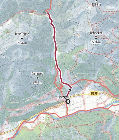 Karte / Holzgau-Rossgumpenalm
