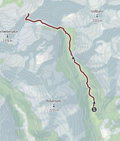 Mapa / Glattjoch
