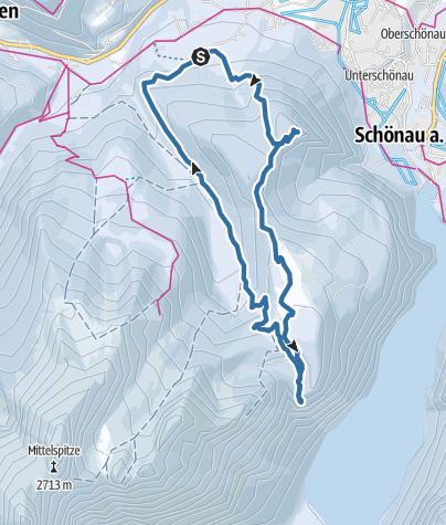 Karte / Schneeschuhwanderung zum Grünstein
