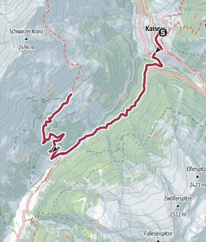 Karte / Kaisers-Mahdbergalpe