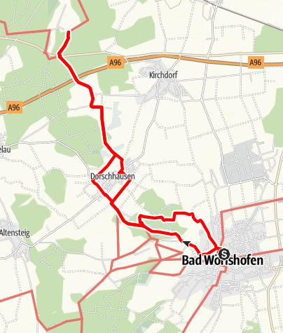 Karte / Wanderung Dorschhausen - Katzenhirn - St. Anna