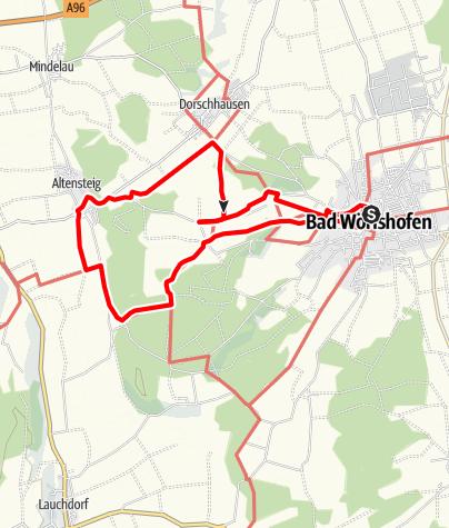 Karte / Wanderung nach Schöneschach und Altensteig