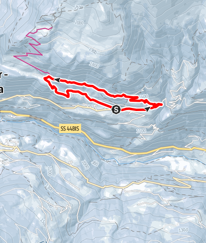 Karte / Sonnenrundweg in Stuls in Passeier
