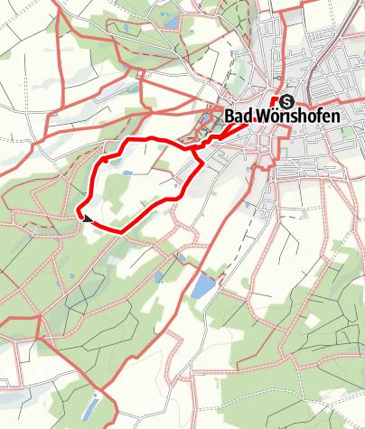 """Karte / Wanderung zum """"Versunkenen Schloss"""""""