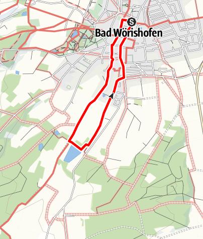 Karte / Wanderung zum Waldsee