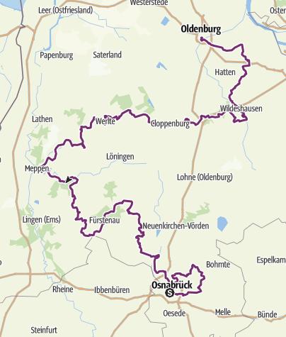 Map / Radroute der Megalithkultur