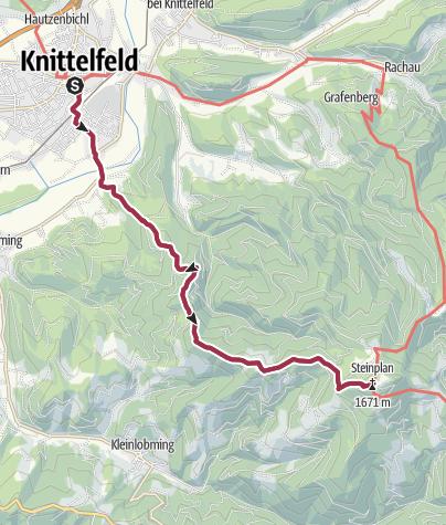Karte / Steinplan von Knittelfeld aus