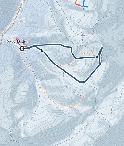 Map / Älplihorn - übers Bärentälli ins Mitteltälli - Aufstieg auf den Erezberg und 1050hm Abfahrt nach Davos Monstein