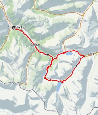 Karte / Silvretta 3-Seen Tour