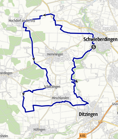 Karte / E-Bike-Region Stuttgart: Nebenroute 3 - Keltenweg