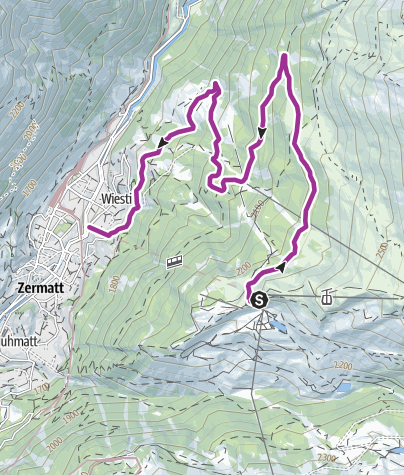 Karte / Kickbike auf Sunnegga
