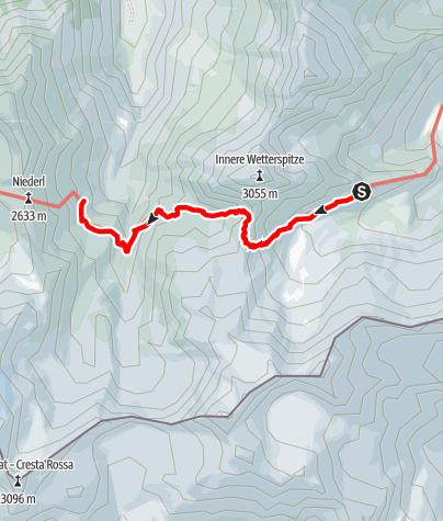 Map / Etappe 2: Bremer Hütte – Nürnberger Hütte