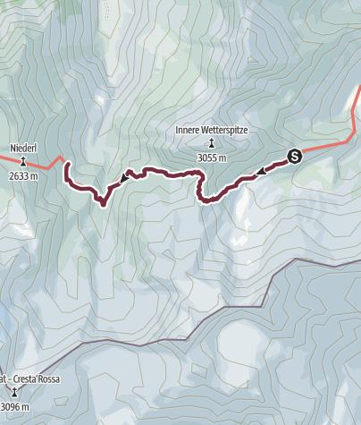 Karte / Etappe 2: Bremer Hütte – Nürnberger Hütte