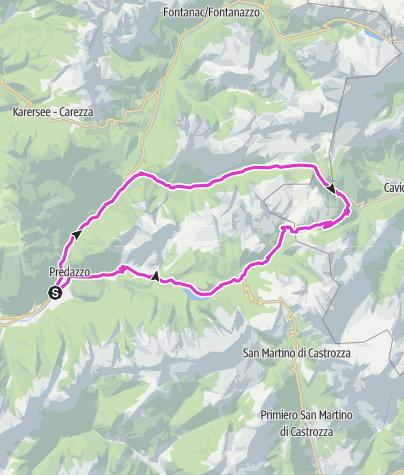 Cartina / Tour San Pellegrino - Valles