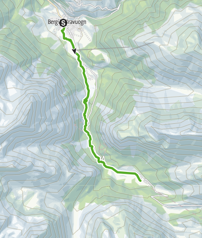 Karte / 33.04 Bergün - Preda, Via Albula / Bernina