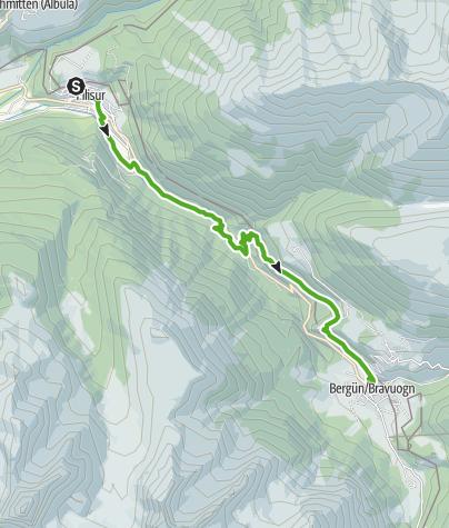 Karte / 33.03 Filisur - Bergün, Via Albula / Bernina
