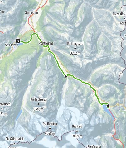 Map / 33.07 St. Moritz - Ospizio Bernina