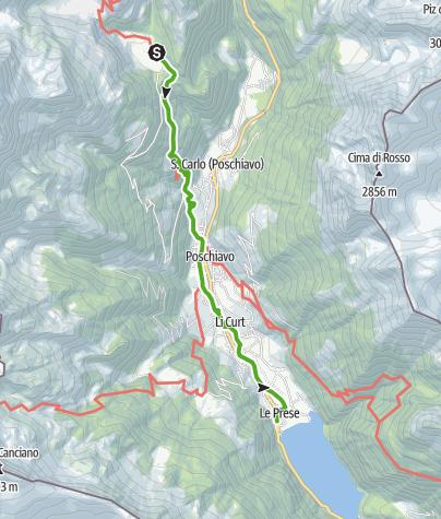 Map / 33.09 Cavaglia - Le Prese, Via Albula / Bernina