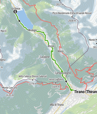 Karte / 33.10 Le Prese - Tirano, Via Albula / Bernina