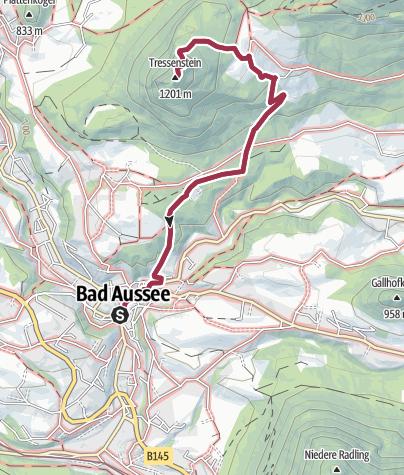Karte / Aussichtswarte Tressenstein von Bad Aussee