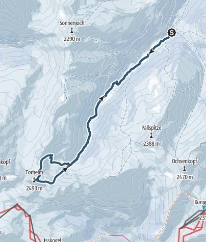Karte / Torhelm (2494 m) aus dem langen Grund