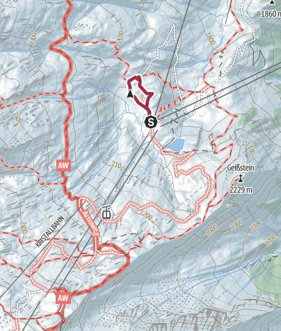 Karte / Hirterbodenweg (Rundwanderweg)