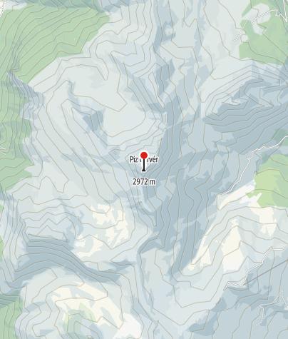 Cartina / Piz Curvér