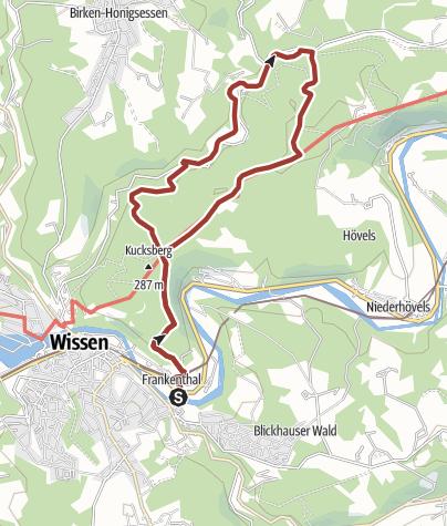 """Karte / """"Alter Fürstenweg bei Wissen (Sieg)"""""""
