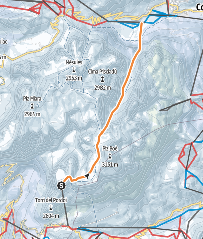 Map / Mittagstal - Ski-Freeride quer durch den Sellastock