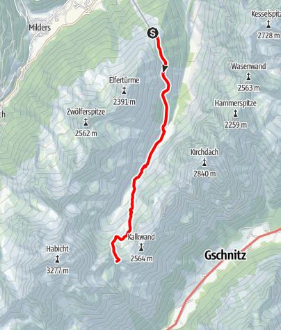Karte / Stubaierhofs Innsbrucker Hütte 2.369 m - CLASSIC