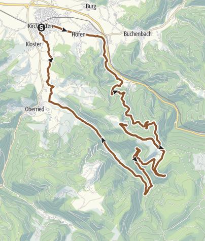 Karte / Kirchzarten - Auf den Spuren des Black Forest Ultra-Bike