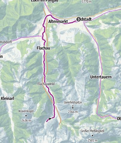 Karte / Winklersee Route bis zu den Marbachalmen (E-Bike)