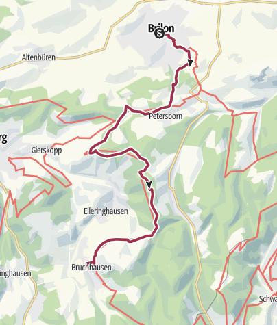 Karte / 1. Etappe Rothaarsteig
