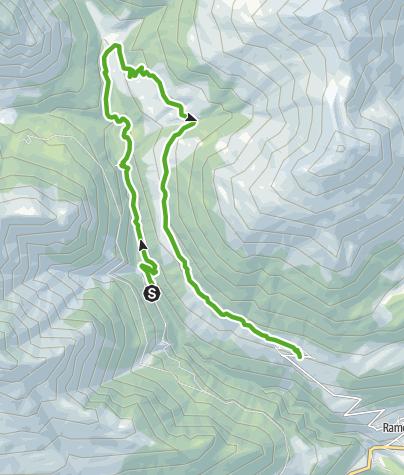 Karte / Hängebrückenweg Val Sinestra – Zuort – Vnà