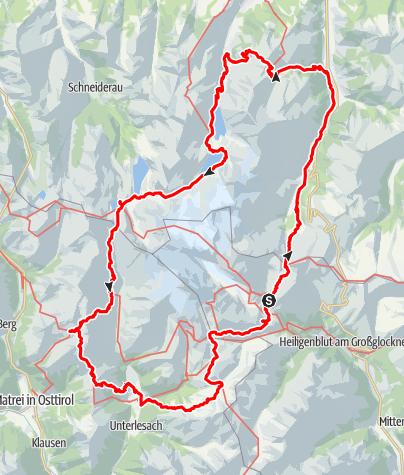 Karte / Die Glocknerunde