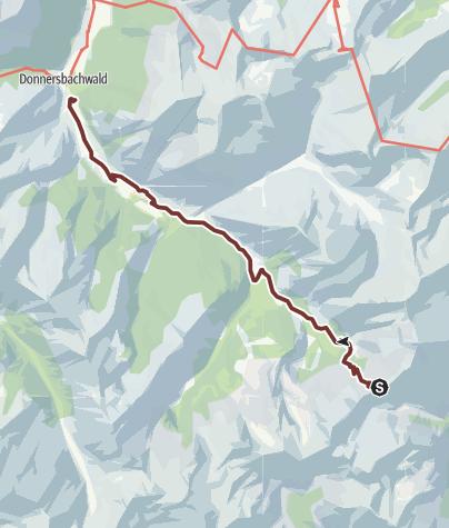 Karte / Hemmapilgerweg, Glattjoch bis Donnersbachwald