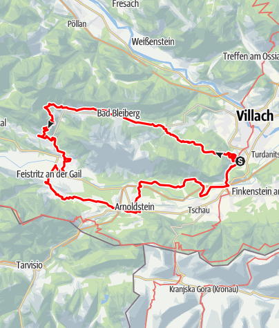 Map / Dobratsch Hiking Trail