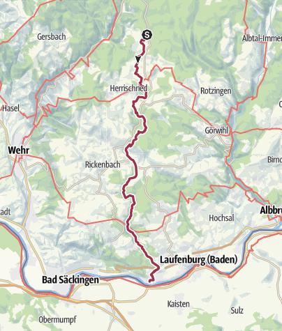 Karte / Herrischried: Murgtalpfad im Hotzenwald