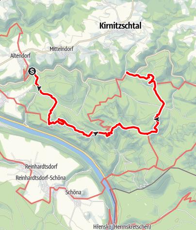 Karte / Sächsische Schweiz - Schrammsteinaussicht - Schrammsteinweg - Kleiner Winterberg - Kuhstall