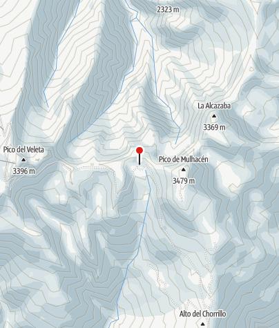 Karte / Refugio de la Caldera (3.050 m)