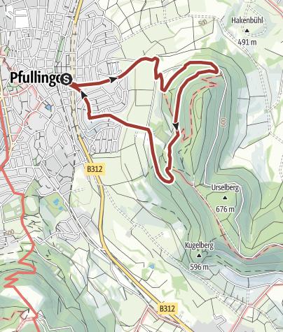 Karte / Pfullinger Sagenweg
