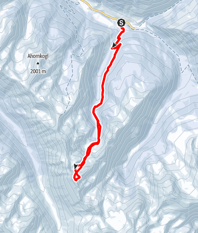 Karte / Hochwart (2301m) von Donnersbachwald